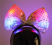 GAHBBTIE - Flashing Sequin Bow Tie Headband